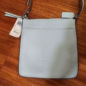 Coach Light blue leather crossbody bag